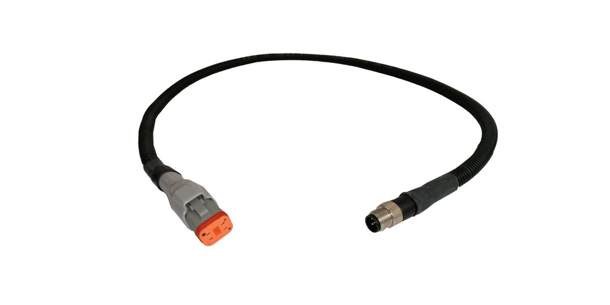 wiring harness m12 deutsch 4pfemale   m12 5pmale wiring harness with can power supply wiring harness melted wiring harness with can power supply
